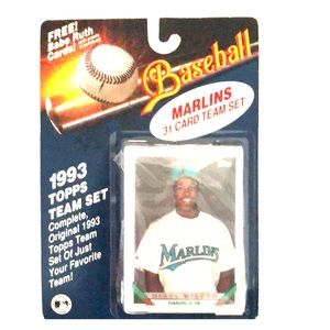 1993 Topps Marlins baseball team set